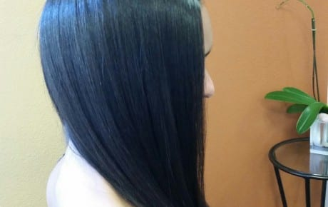 Hairstyle shiny healthy long hair