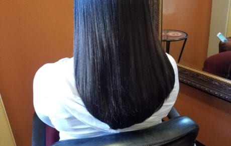 Hairstyle Healthy Straightened black hair